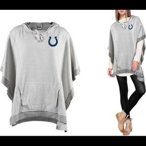 Little Earth NFL Heathered Hoodie Poncho Colts